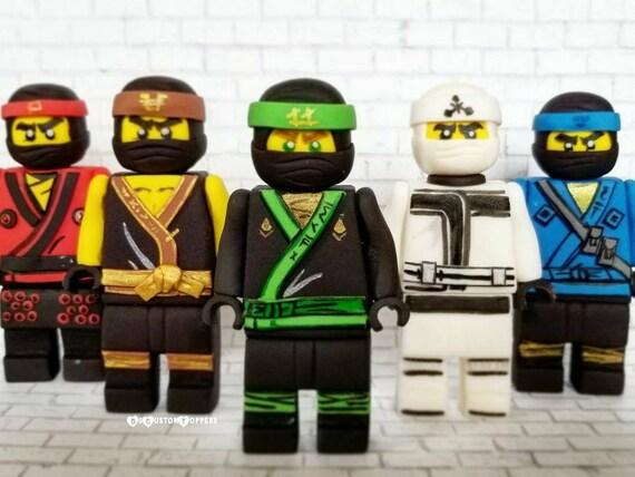 Lego Ninjago Verjaardag.Ninjago Lego Fondant Ninja Cupcake And Cake Toppers