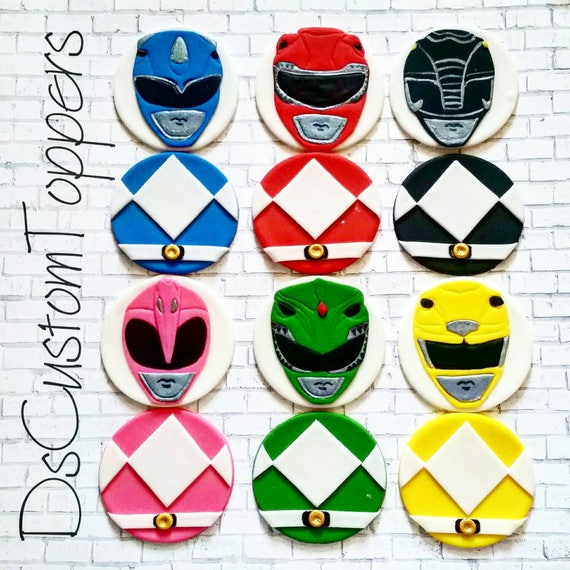 Power Rangers Cupcake Toppers Etsy