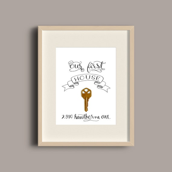 Our First House Apartment Home or Place Printable Key Frame | Etsy