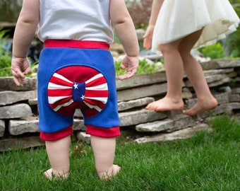 American flag bow shorts