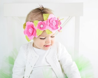 The Yellow and Purple Fancy Buttercup Felt Crown or Maternity Sash
