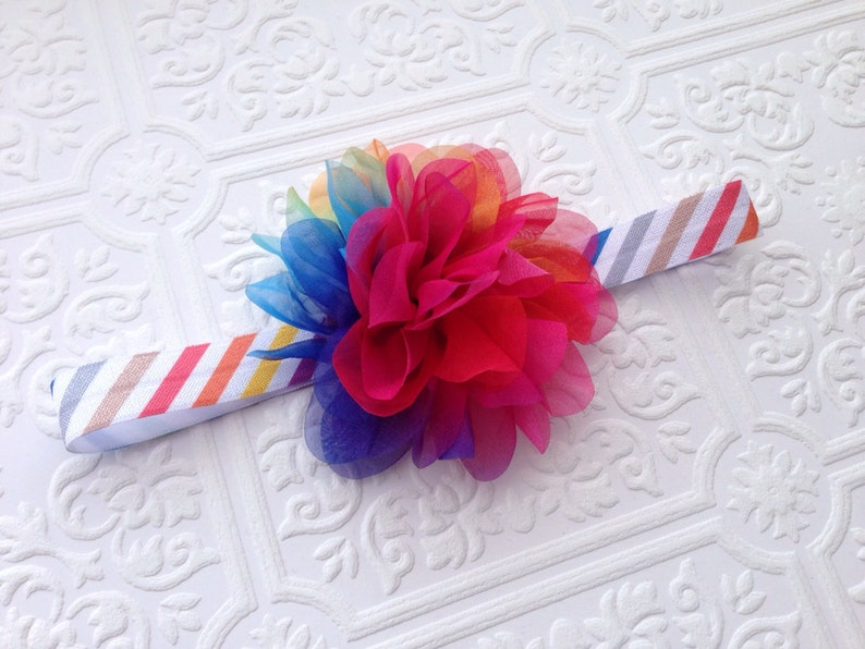 The Shabby Chic Petaled Puff Headband or Hair Clip Your Color Choice