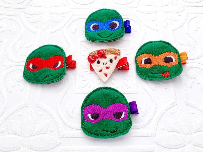 and Donatello The Teenage Mutant Ninja Turtles Feltie Headband or Clip- Michelangelo Rapahel Leonardo