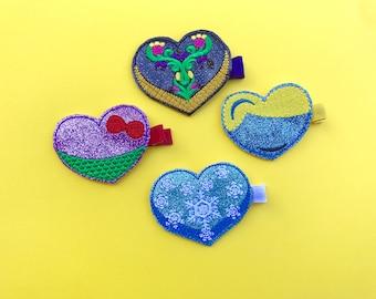 The Princess Hearts Collection Feltie Headband or Clip