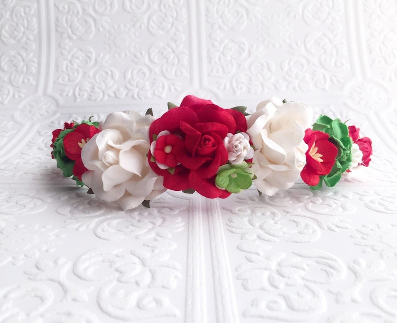 The Holiday or Christmas Goddess Floral Crown