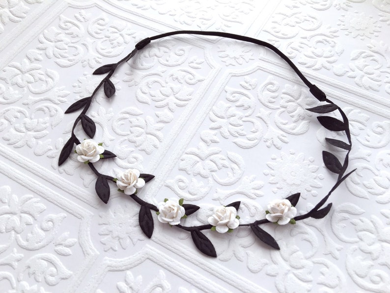 Your Rosebud Color Choice The Black Grecian Pixie Crown