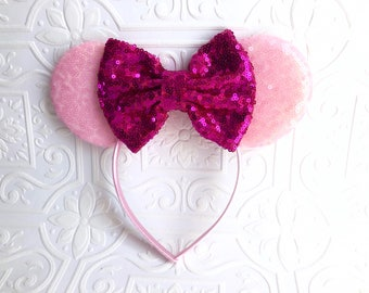 The Pink Sequin Minnie Ears Teen-Adult