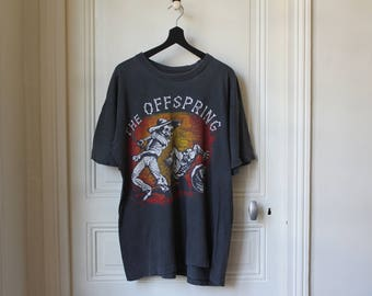The Offspring t-shirt original 90 s vintage Ixnay on the Hombre Punk Rock Grunge t-shirt faded black worn out skull mexican skeleton - L
