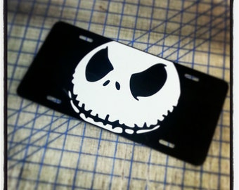 jack skellington custom license plate