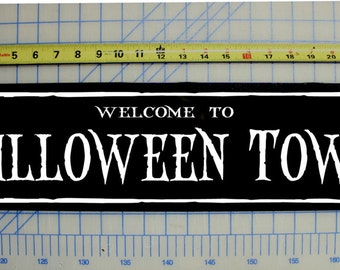 welcome to halloween town sign nightmare before christmas