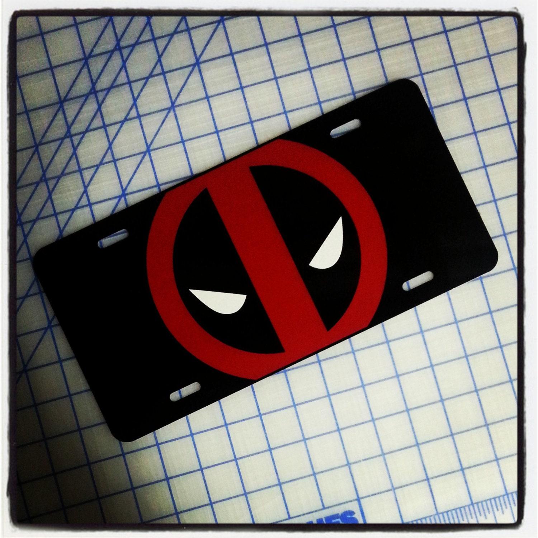 Deadpool individuelle Kfz-Kennzeichen | Etsy