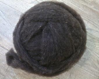 Dark Charcoal Grey Fine Shetland Roving