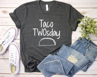 Taco TWOSday Shirt Tee Birthday For Parents Tuesday Second Party Unisex T
