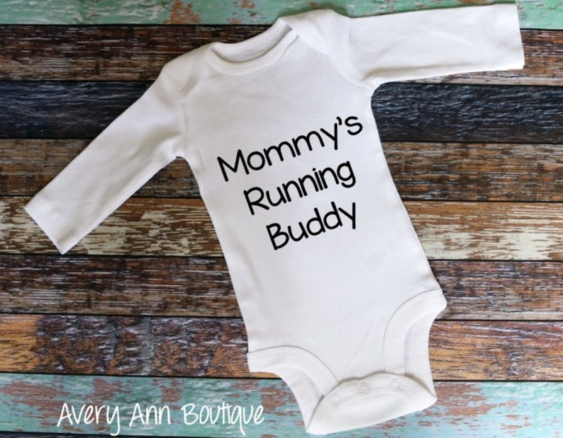 5cd527875 Mommy s Running Buddy Newborn Outfit Baby Outfit Baby