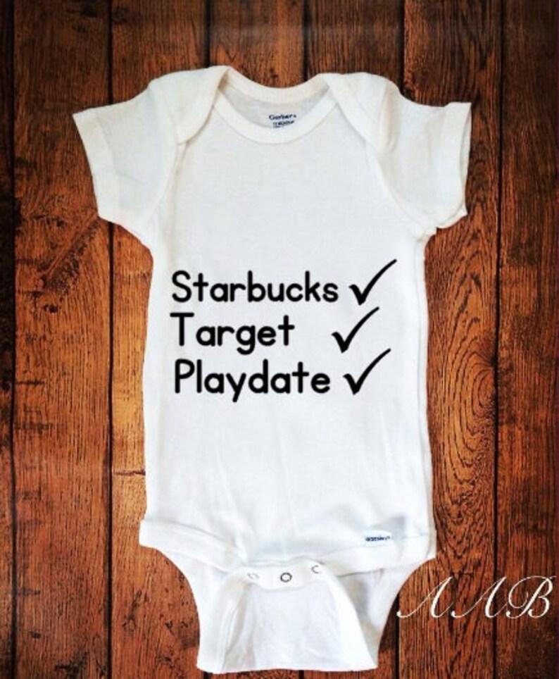 2bf815244 Starbucks Target Playdate Hipster Baby Cute Bodysuit Baby | Etsy