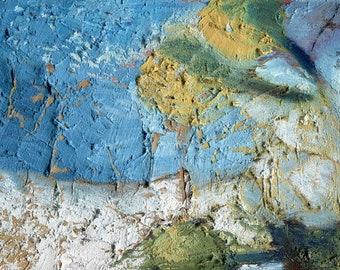 White Cliff Trees, France Painting, Landscape Oil Painting, Elizabetha Fox