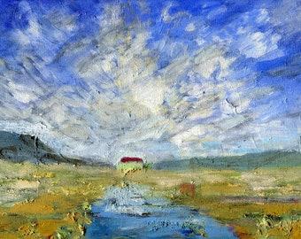 Iceland Refuge, Oil Painting, Fine Art, Iceland Painting, Landscape Painting, ElizabethAFox