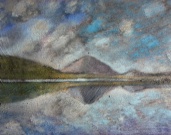 Evening Reflections Iceland - Oil Painting - Fine Art - Iceland Painting - Landscape Painting - ElizabethAFox