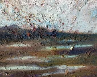 Iceland Shining, Oil Painting, Fine Art, Iceland Painting, Landscape Painting, ElizabethAFox