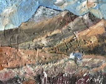 WINTER BOTHY - Scotland - Oil Paint Original - Cabin Painting - Mountain Scenery - Landscape Painting - ElizabethAFox