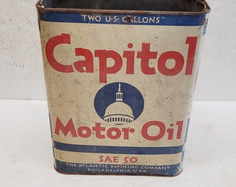 Vintage 2 gallon Capitol Oil Can