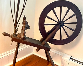 Antique Spinning Wheel with Spooler and Cage- RARE - Pick Up Only