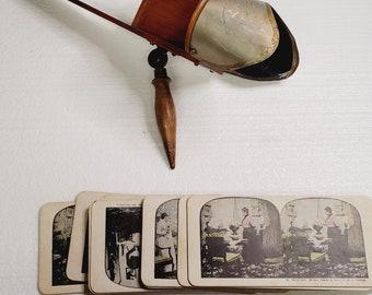 1897 Antique Wood Stereoscope
