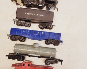 Vintage Lionel O Scale Trains - set of 5