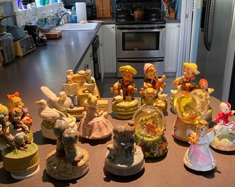 Vintage Collection of Hummel Like Music Boxes