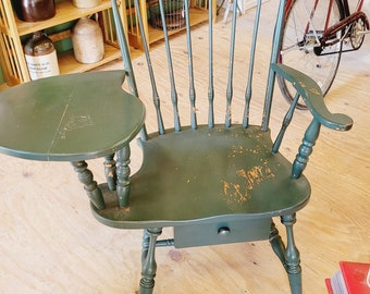 Antique Windsor Writing Chair with Seat Drawer