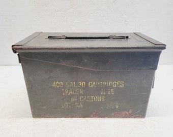 Vintage Military Army Ammo Box