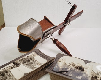 Antique Stereoscope 1800's With  Over 50 Cards