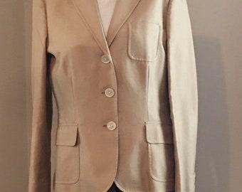 Ralph Lauren Women's Vintage Cotton Silk Blazer