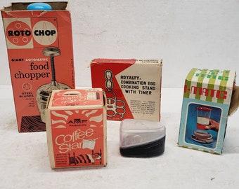 5 Piece Vintage Gadget Collection in Original Boxes - Egg carrier