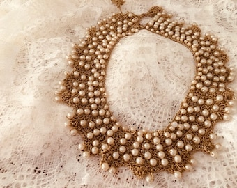Vintage Hand Crocheted Women's Necklace