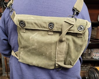 Vintage Military Army Gas Mask Back Pouch