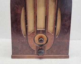 Antique Phico Model 38-93 Wood Radio - Pick Up Only