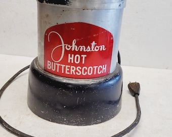 Vintage Johnston Hot Butterscotch Warmer