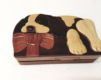 Puzzle Box with Exotic Hardwoods