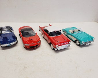 Collectible Die Cast Car Collection Set of 4