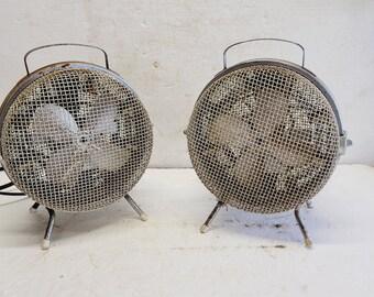 Vintage Set ORLI Caged Fan / Heaters (2)