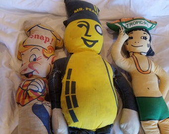 Very Rare Antique / Vintage Character Advertising Cloth Rag Dolls (3)