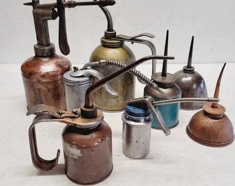 8 Piece Vintage Oiler Collection Set - #2