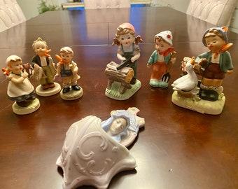 Hummel Like Porcelain Figurines