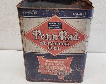 Vintage 2 gallon Penn Rad Oil Can