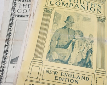 Early 1900's The Youth Companion Magazine Collection - 12 pcs