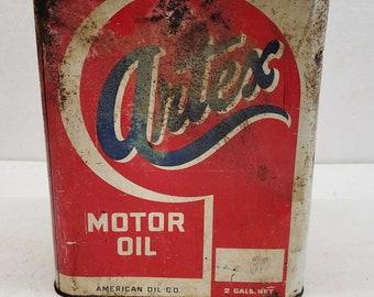 Vintage RARE Artex 2 Gallon Oil Can