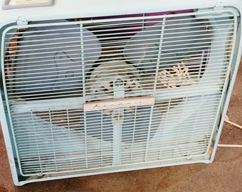 Vintage Kenmore Automatic Heavy Metal Box Fan - Pick Up Only