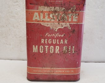 Vintage 2 1/2 gallon Allstate Oil Can