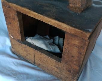 Antique Hand Made Shoe Shine Box w/ accessories